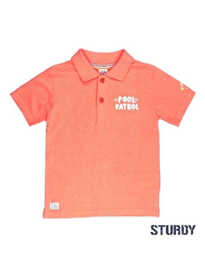 Pool Party Poloshirt Neon Orange