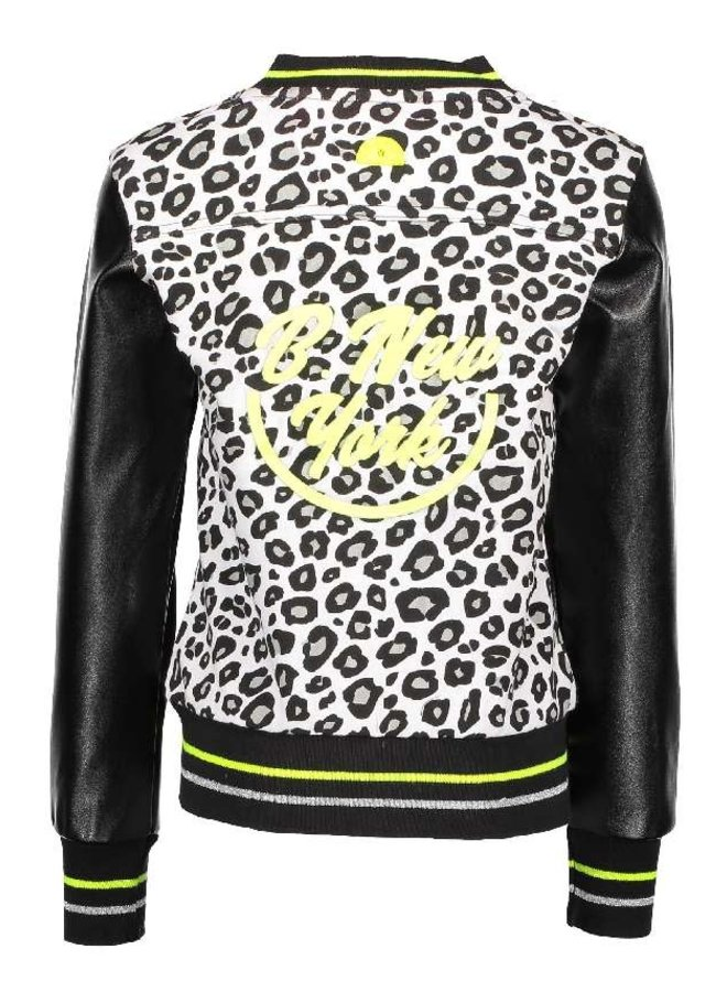 Baseball Jacket Whithe/Black Panther