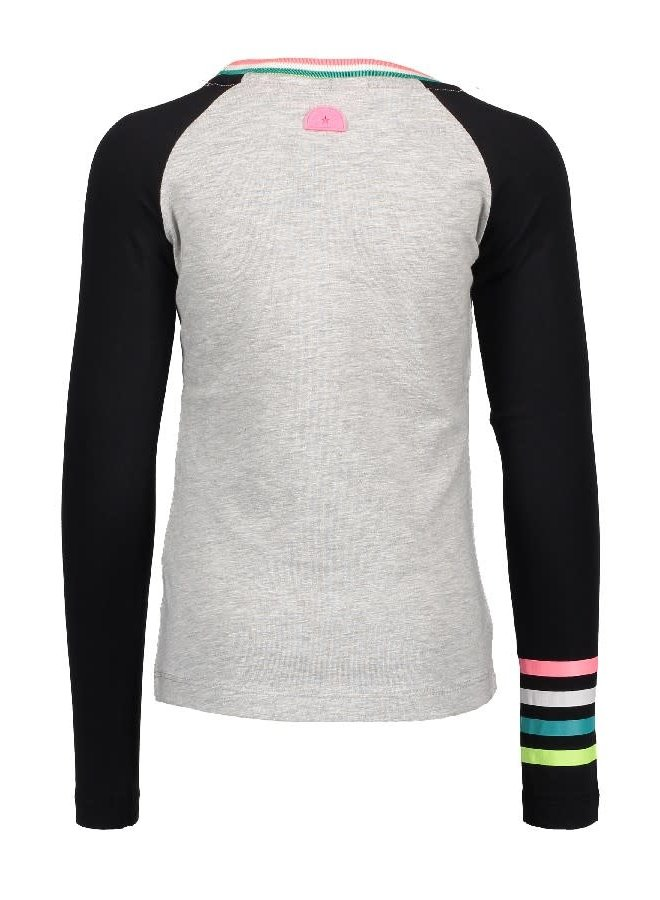Shirt Raglan Tiger Grey Melee