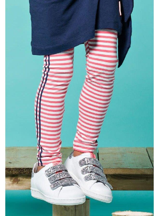 Legging Sole Raspberry Sorbet Streep