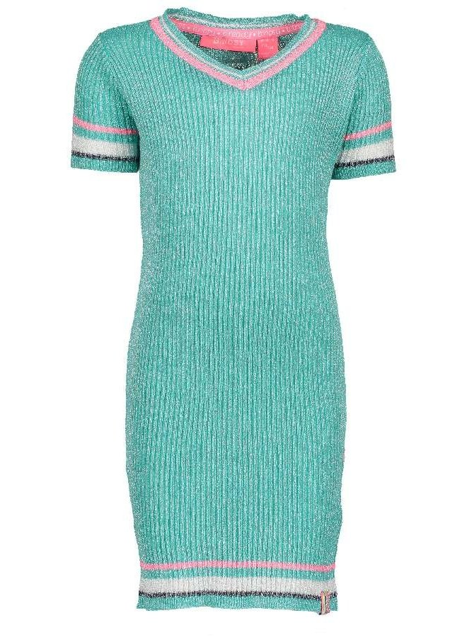 Jurk Knitted Hot Turquoise