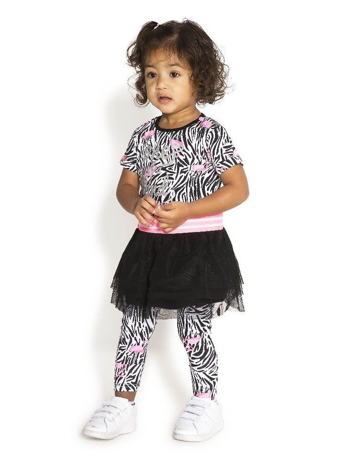 Legging Flamingo Zebra