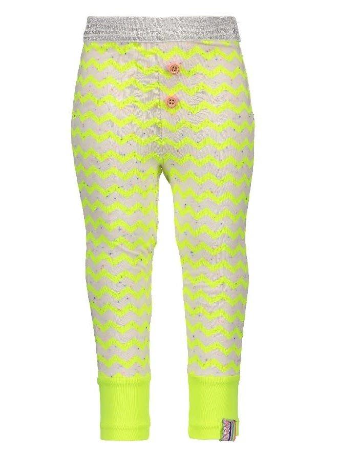 Legging Zigzag Electric Yellow