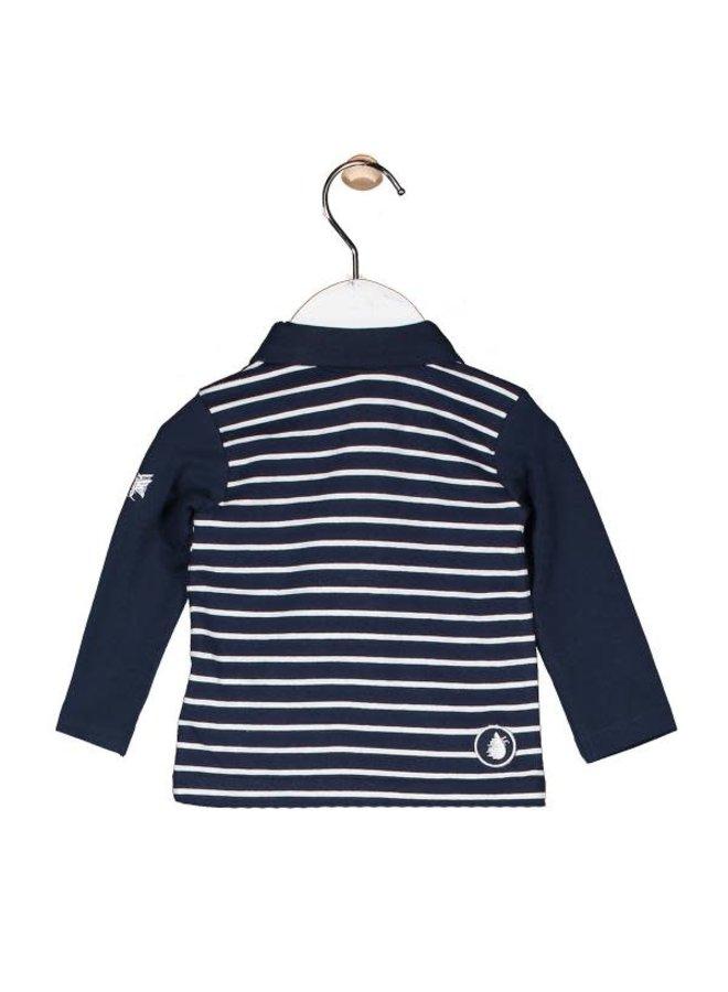 Poloshirt marine/wit