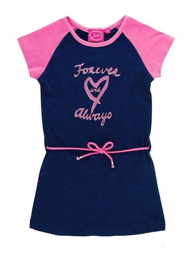 Jurk en Legging Forever Love Always Marine/Pink