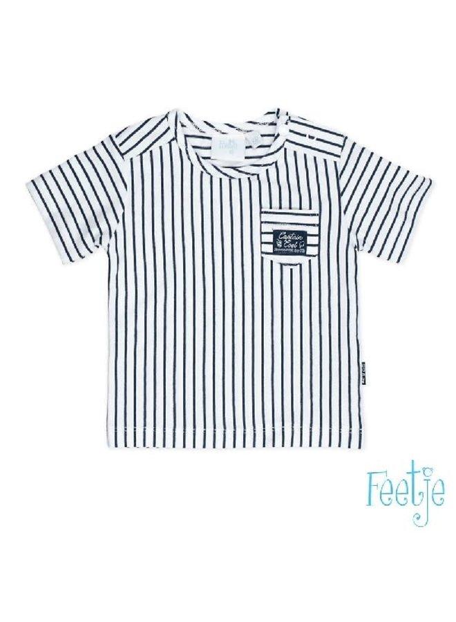Captain Cool Shirt Stripe Marine
