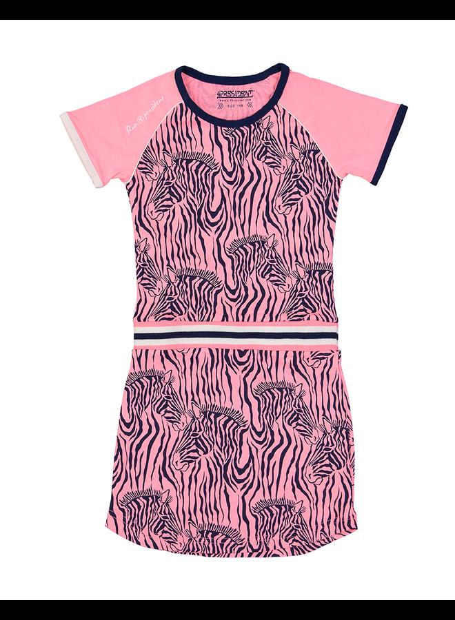 Jurk Kenzie Zebra Roze