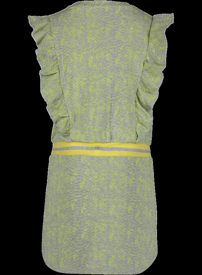 Jurk Vada Neon Yellow