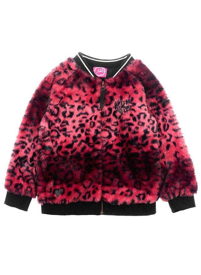 Animal Attitude Vest Fake Fur Roze