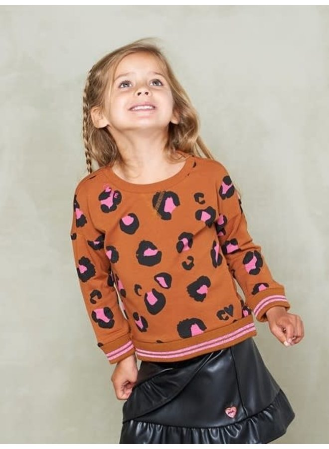 Animal Attitude Sweater AOP Bruin