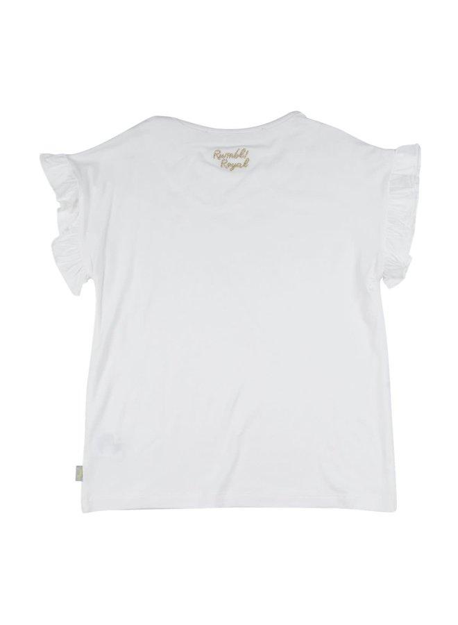 Shirt met Parels Offwhite