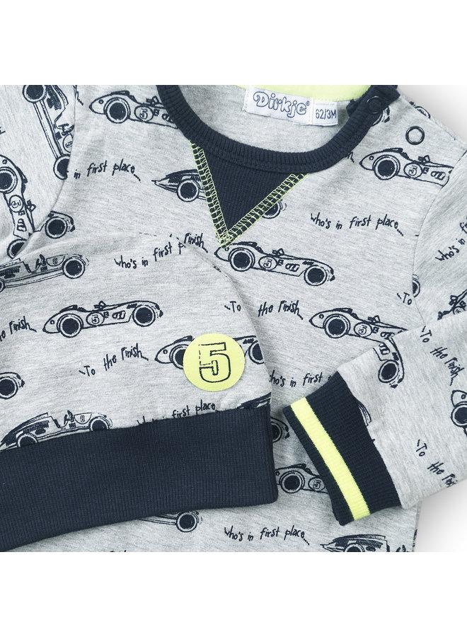 Babysuit Navy/Grijs Melee