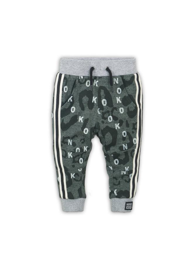 Joggingbroek Grey melee/Green