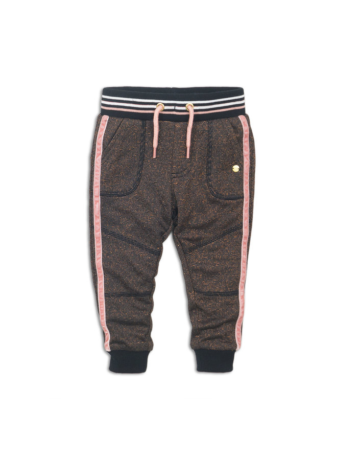 JoggingBroek Rosé Glitter/Black