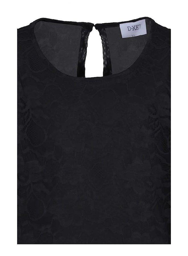 Jurk Zwart met lange kanten Mouwen