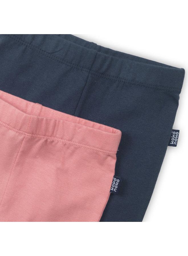Legging 2 pack Pink/Navy
