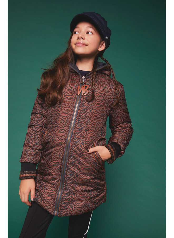 Jas Buzzy Reversible Leather Brown/Marine