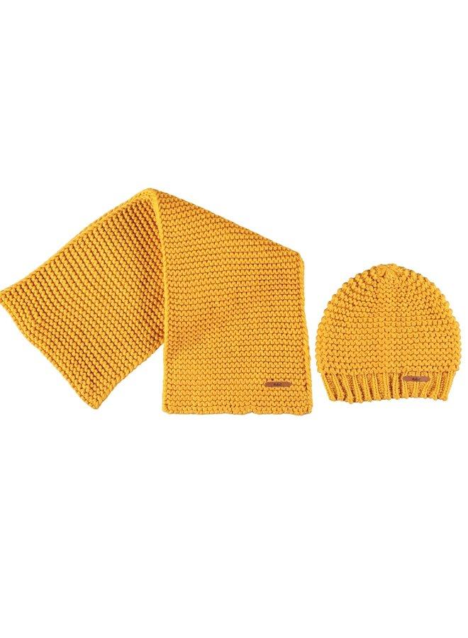 Muts en Sjaal Raya Yellow Gold