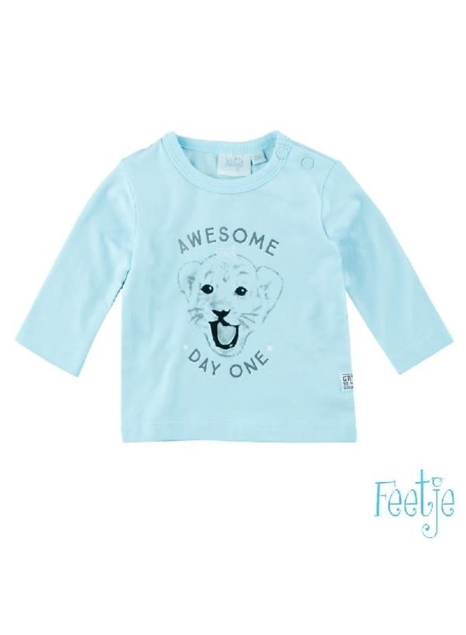 Longsleeve Aswesome Day One Licht Blauw