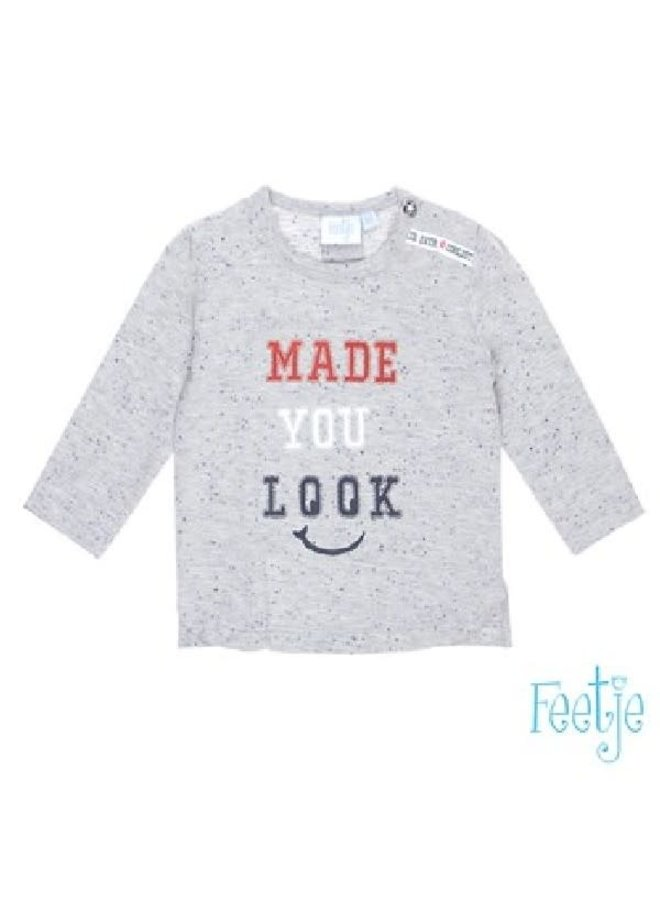 Coolest Kid Shirt Made You Look Grijs melee