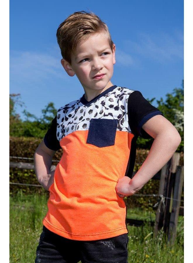 Shirt Soccer Neon Oranje
