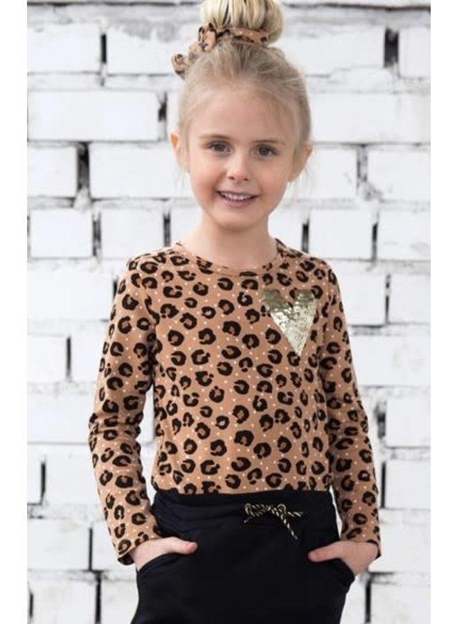 Leopard Lipstick Jurk Panter Black