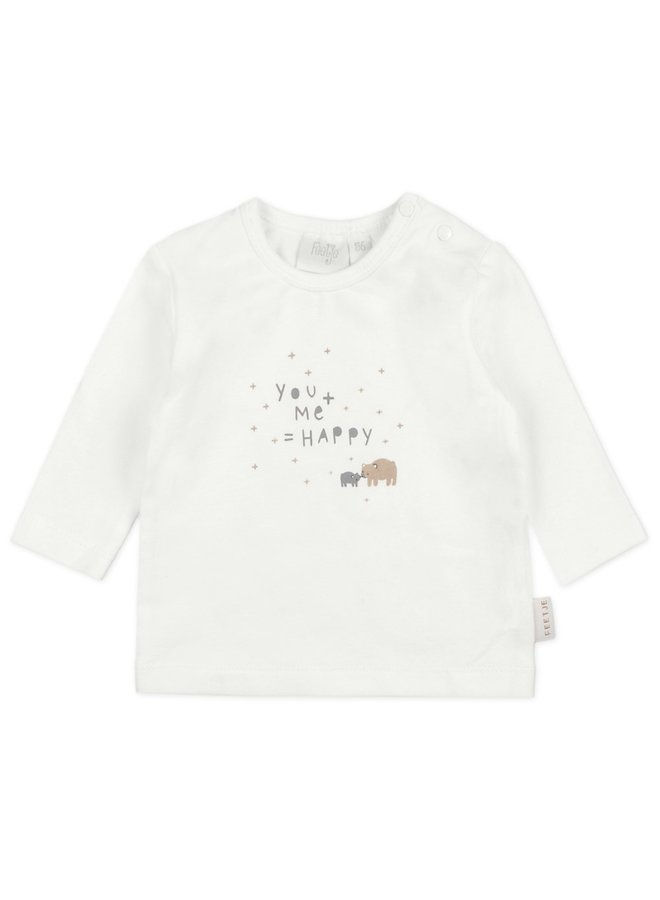 Happy Longsleeve You & Me Offwhite