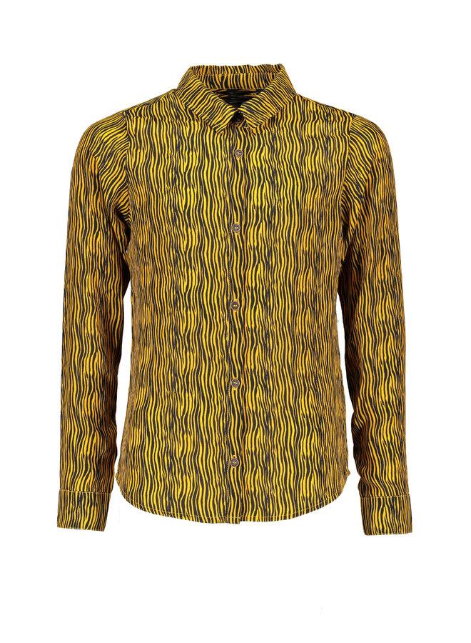 Blouse Tinka Zebra AOP Yellow Gold