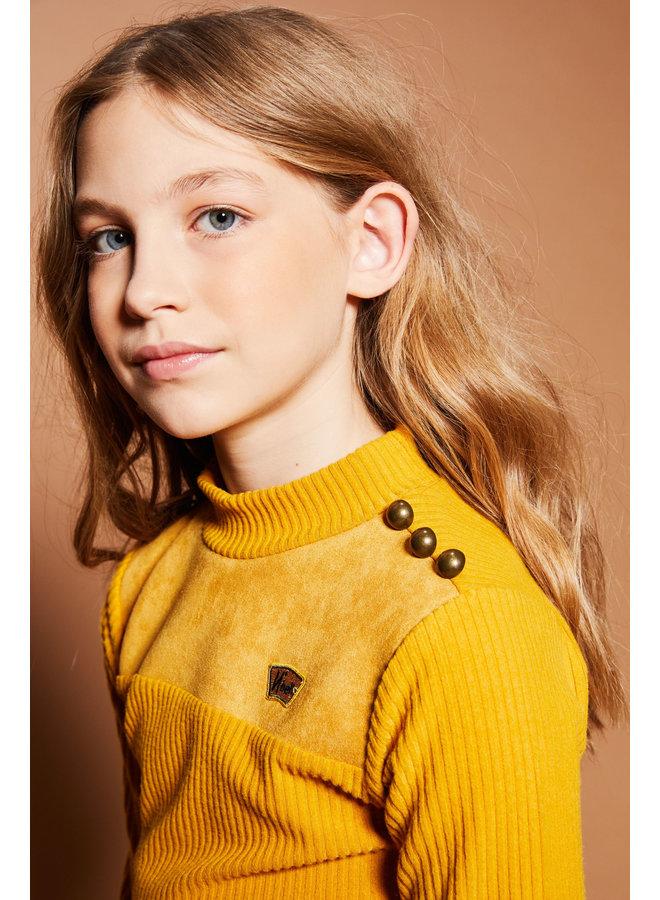 Kolet Shirt met knopen Yellow Gold