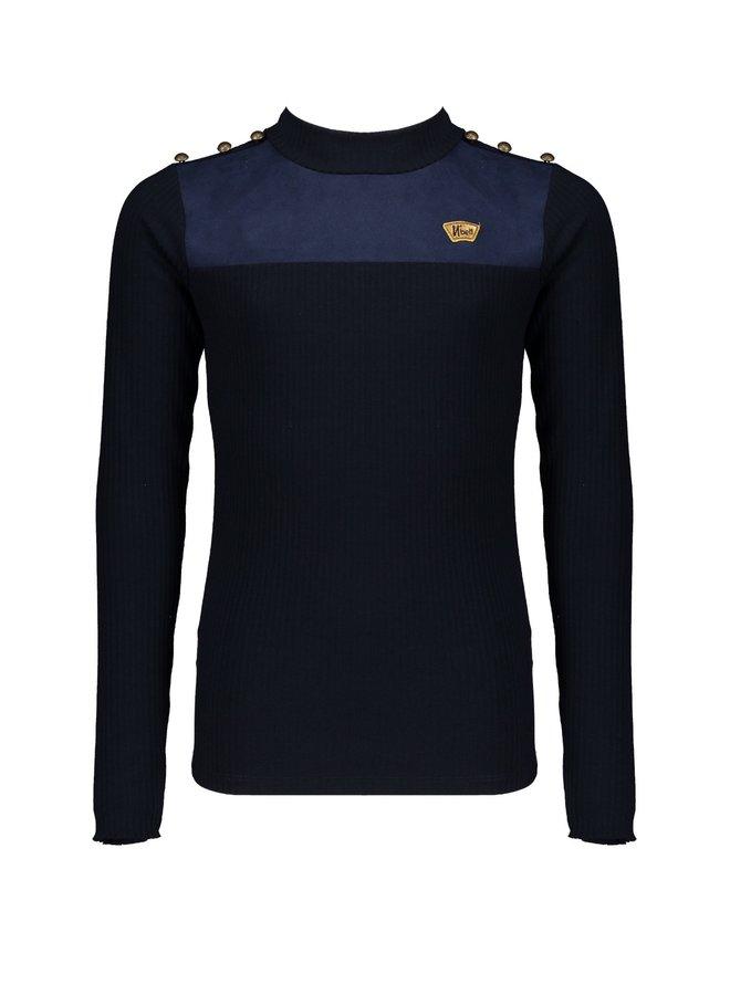 Kolet Shirt met knopen Navy