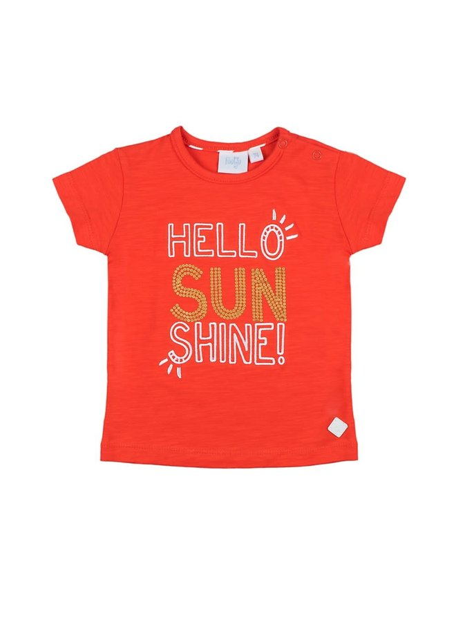 Funbird Shirt Hello Sunshine Rood