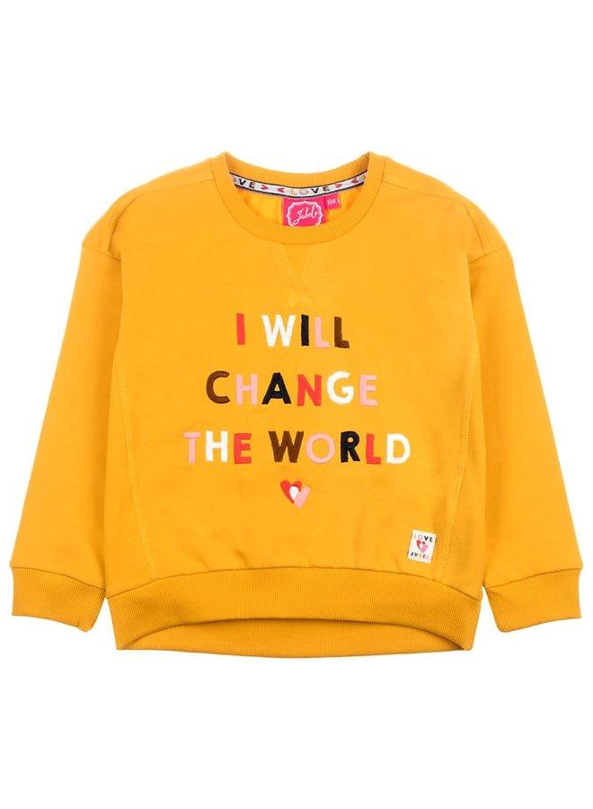 Bittersweet Sweater Change Okergeel