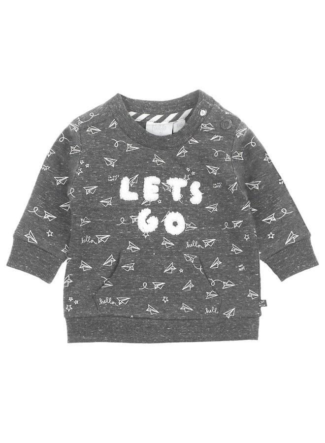 Flying By Sweater Let's Go  Antaciet Melange