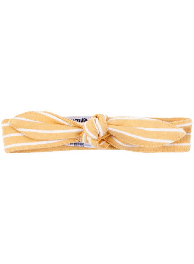 Haarband Annimal Wood Stripes Geel