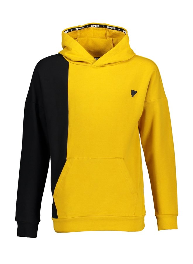 Kaso Sweater Hooded Mustard Yellow