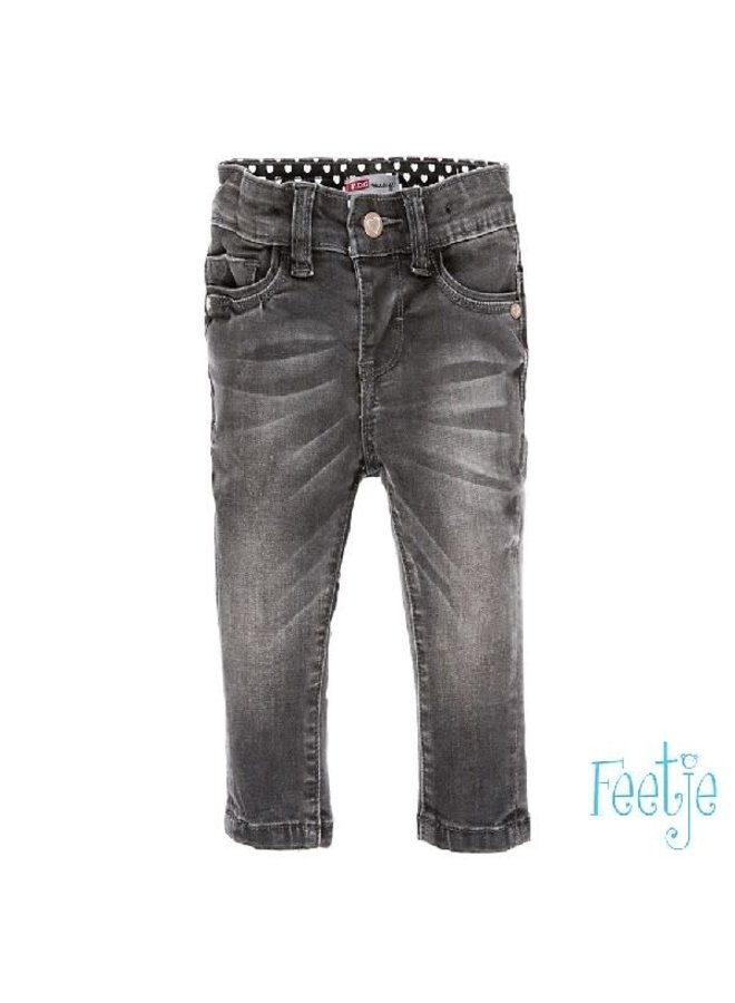 Broek Denim Slim Fit Power Streched Dark Grey
