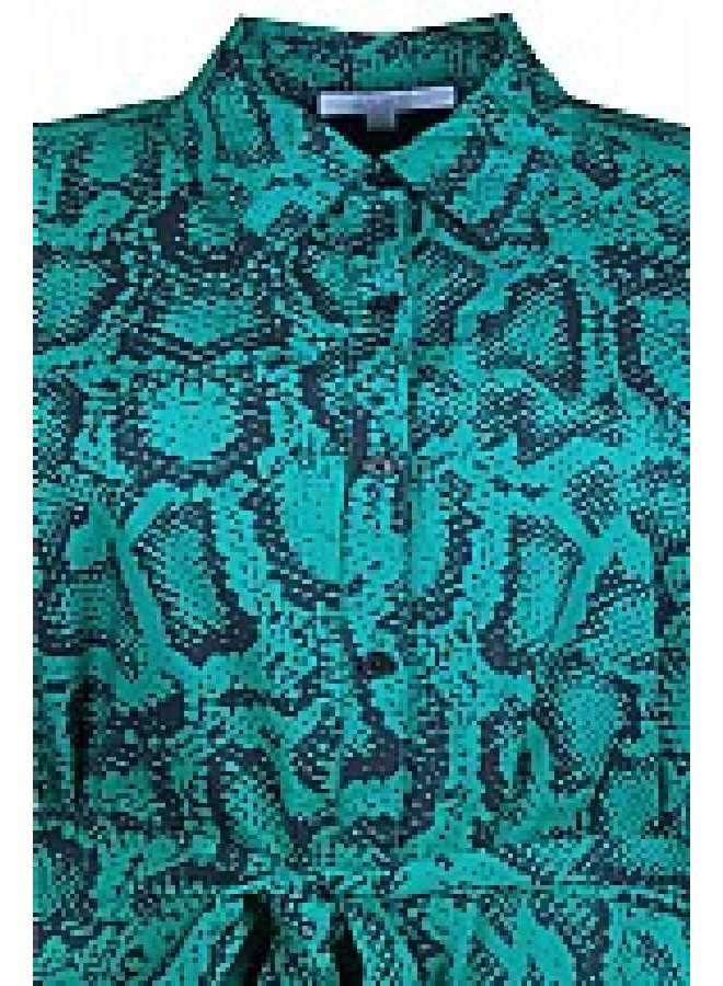 Jurk Snake Print Groen