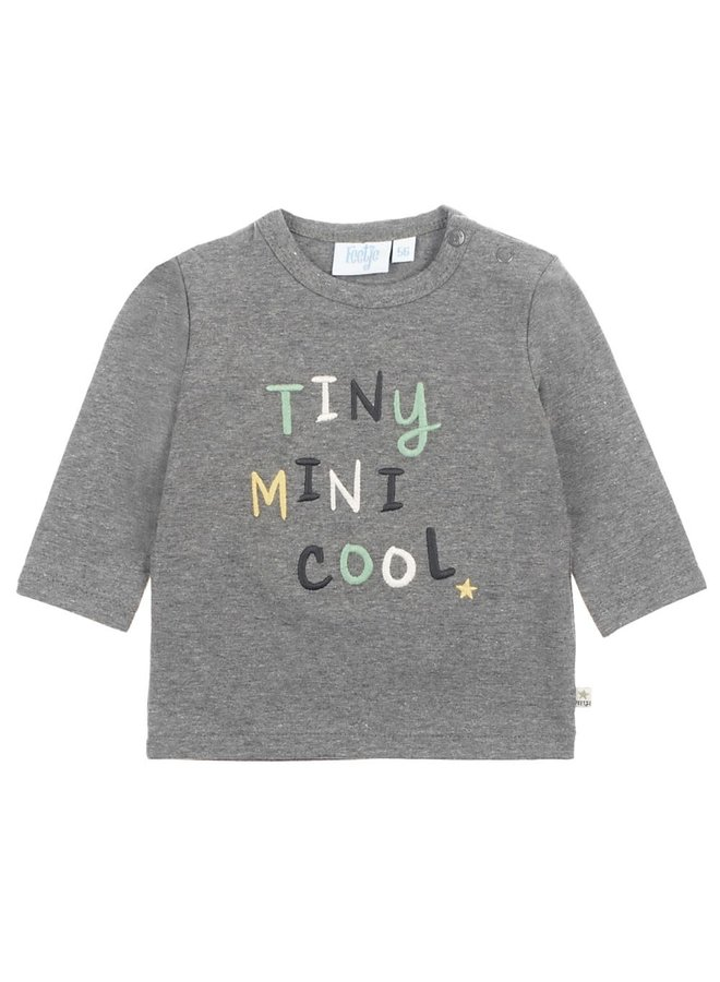 Dino Longsleeve Tiny Mini Cool Antraciet Melee