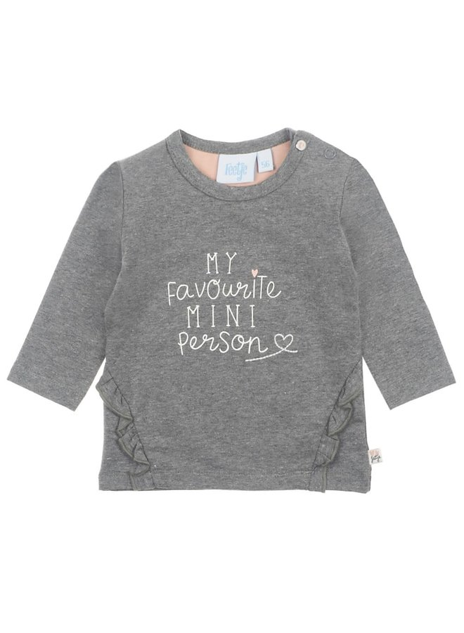 Little and Loved Longsleeve My Favourite  Mini Person Antaciet Melee