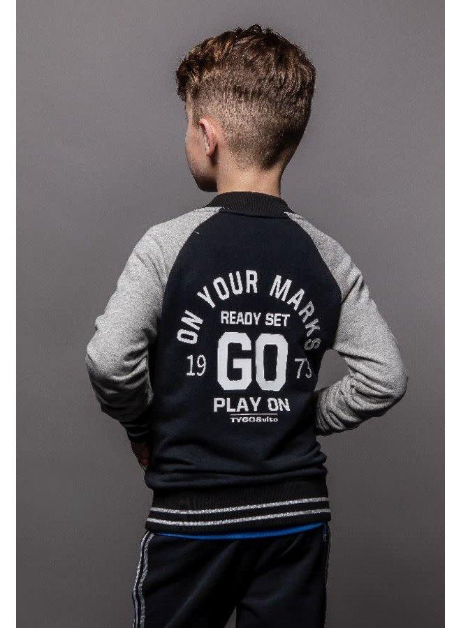 Baseball Jacket ON YOUR MARKS GO Black
