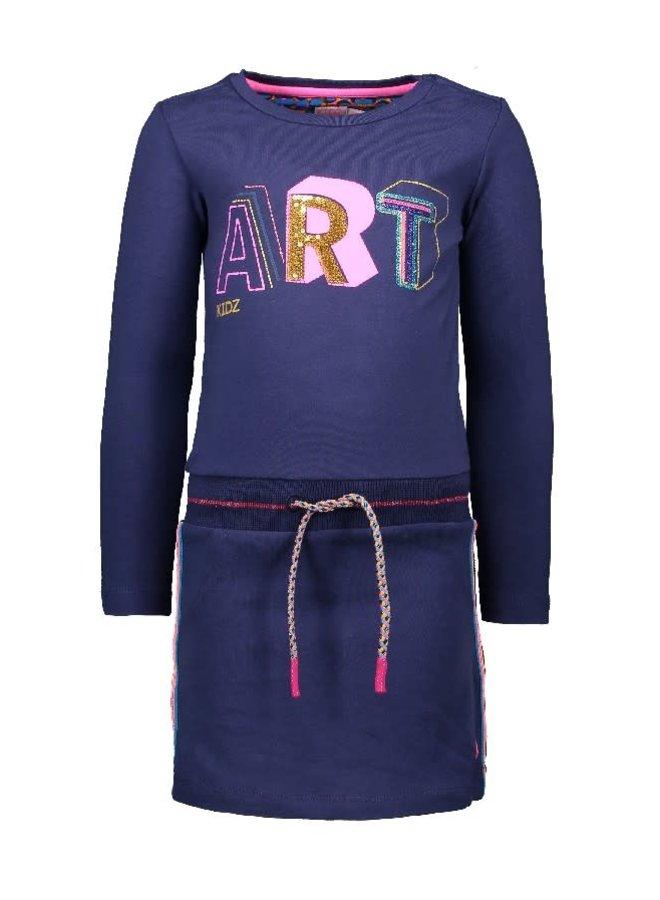 Jurk fancy tapes ART Dark Blue