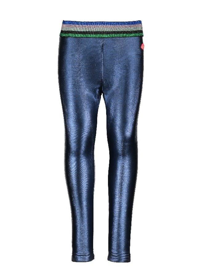 Legging Coated & Bonded PU Dark Blue