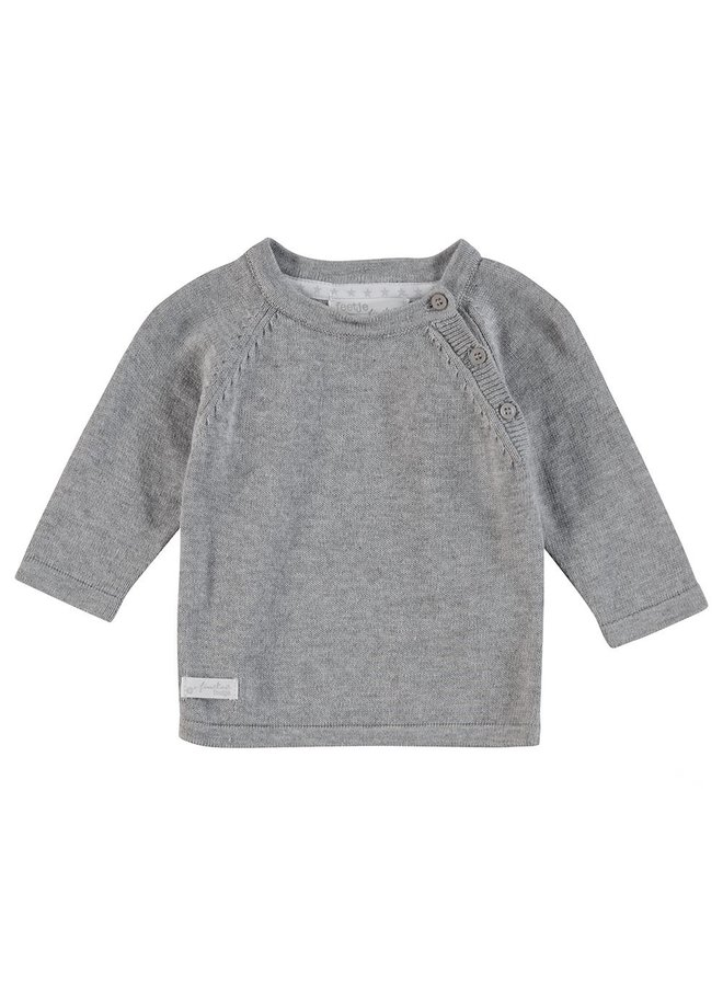 First Knit Sweater Grijs Melee