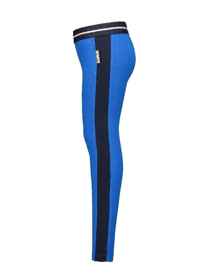 Legging with Side Piece Azure Blue