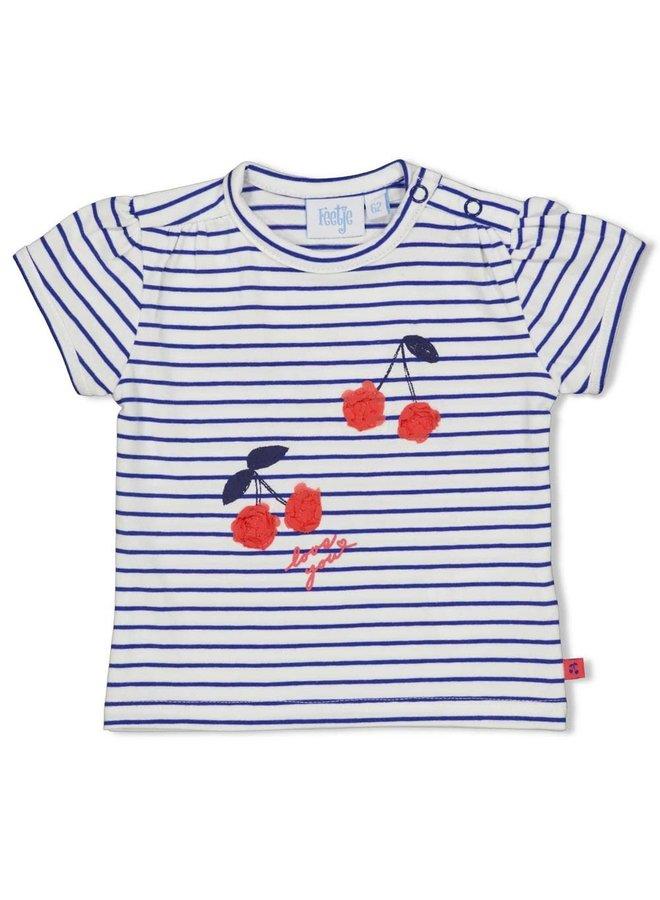 Cherry Sweetness T-shirt Streep Marine
