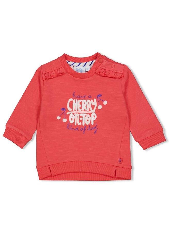 Cherry Sweetness Sweater Rood