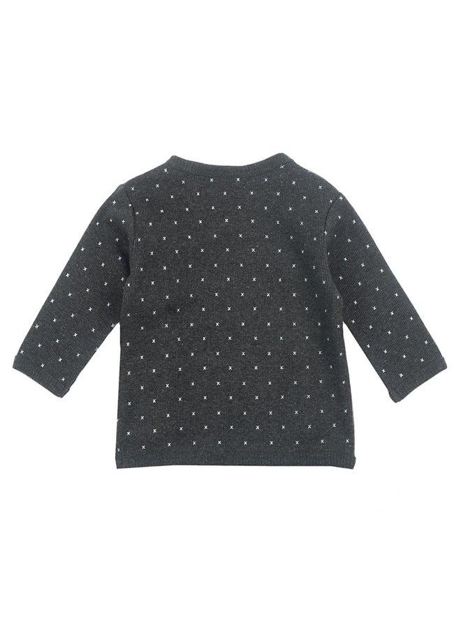 Mini Person Overslag Shirt Antraciet AOP