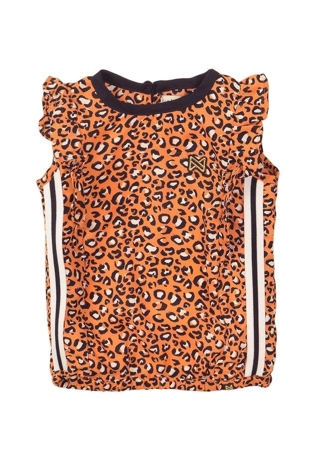 Blouse Print Orange