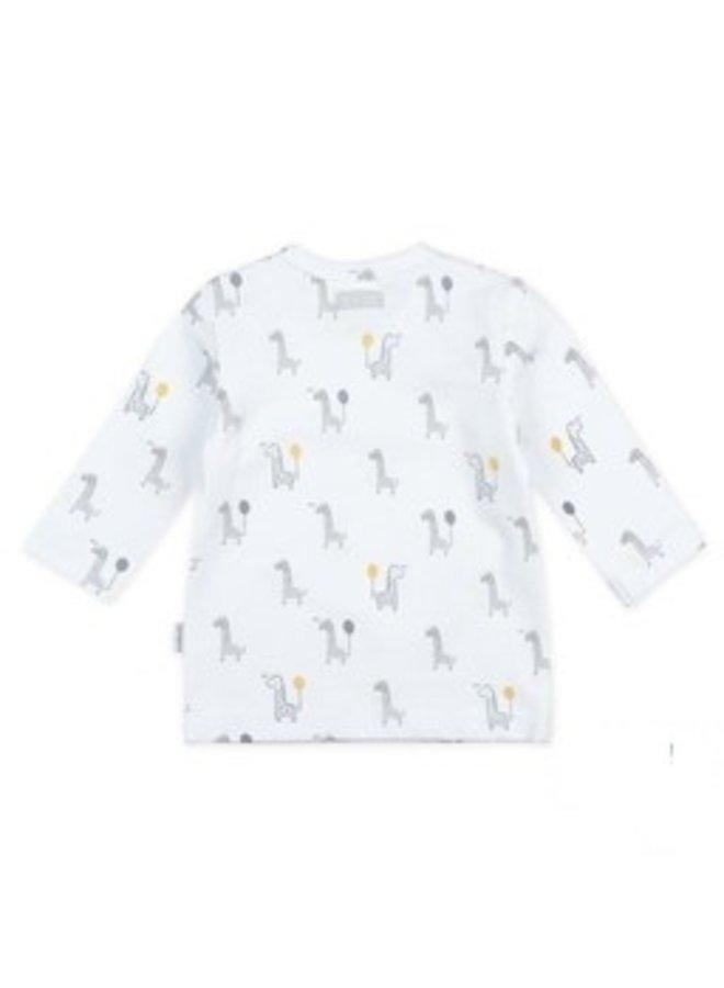 Giraffe Longsleeve AOP wit/geel