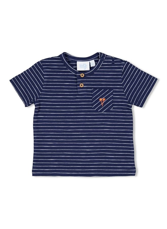 Here Comes The Fun T-shirt Streep Marine